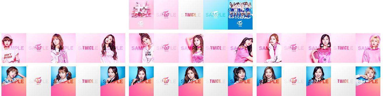 「TWICE」コラボ 撮影フレームデザイン イメージ
