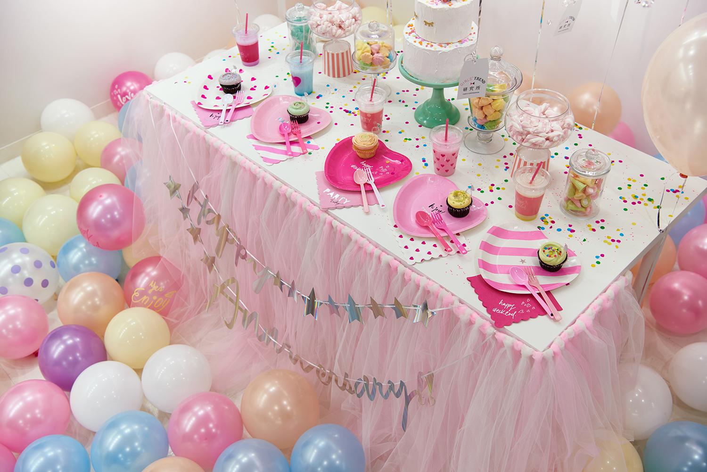 誕生日パーティーをテーマにした装飾
