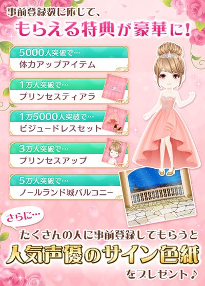 『恋愛プリンセス~ニセモノ姫と10人の婚約者~』事前登録概要