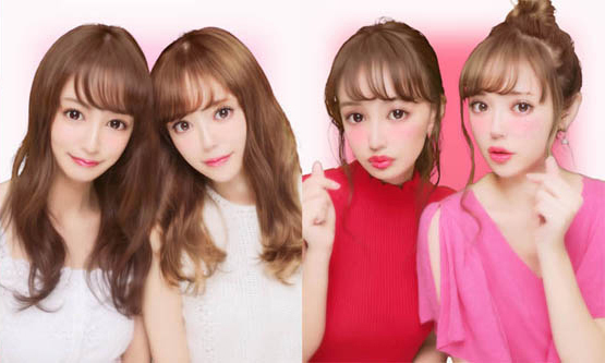 「なちゅカワコース」(左)、「おフェロコース」(右)写りイメージ
