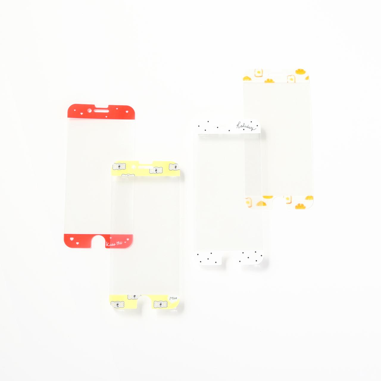 iPhone6/6S/7/8 液晶保護フィルム(ハート、コアラ、ドット、パン)各100円